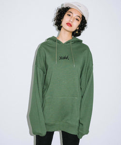 EMBROIDERED MILLS LOGO SWEAT HOODIE R&D, HOODIES & SWEATERS, X-Girl