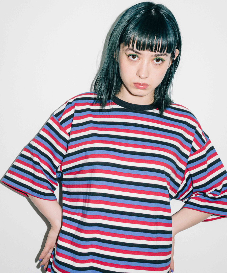 STRIPED S/S TEE DRESS EC, DRESSES, X-Girl