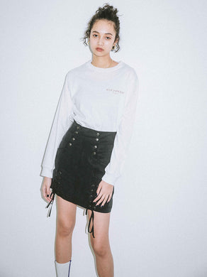 LACE-UP MINI SKIRT, SKIRTS, X-Girl