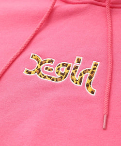 LEOPARD LOGO SWEAT HOODIE, HOODIES & SWEATERS, X-Girl