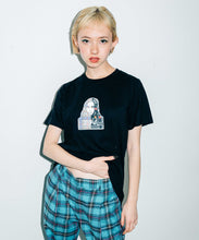 Load image into Gallery viewer, PLAID PATCHWORK FACE S/S REGULAR TEE, T-SHIRT, X-Girl