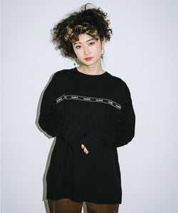 LOGO TAPE L/S BIG TEE, T-SHIRT, X-Girl