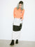 COLOR BLOCK CARGO MAXI SKIRT