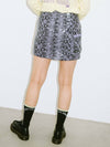 SNAKE PATTERN SKIRT, SKIRTS, X-Girl