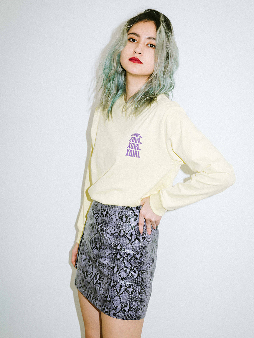 RIOT GRRRL L/S REGULAR TEE, T-SHIRTS, X-Girl