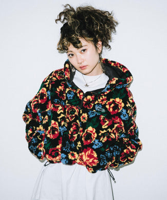 FLORAL BOA SHORT ANORAK, OUTERWEAR, X-Girl