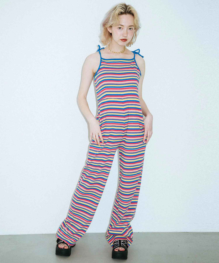 STRIPED CAMI ALL IN ONE, OVERALLS, X-Girl