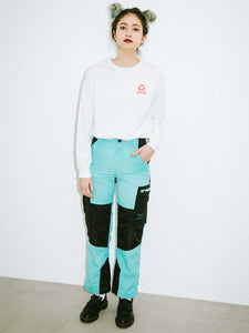 COLOR BLOCK CARGO PANTS, PANTS, X-girl
