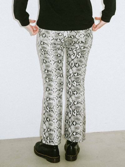 SNAKE PATTERN FLARE PANTS, PANTS, X-Girl