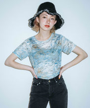 Load image into Gallery viewer, MARBLE MESH S/S TOP, TOPS, X-Girl