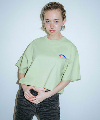 RAINBOW CROPPED S/S MENS TEE, T-SHIRT, X-Girl
