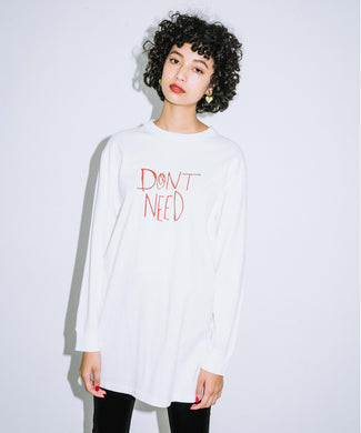 RIOT GRRRL L/S TEE DRESS, DRESS, X-Girl