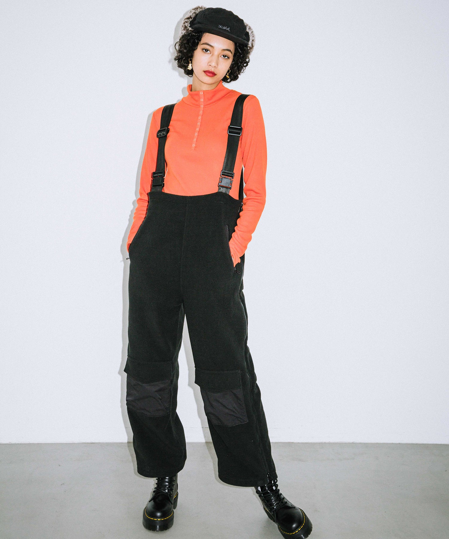 FLEECE OVERALL, PANTS, X-Girl