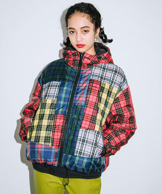 PATCHWORK PUFFER JACKET, OUTERWEAR, X-Girl