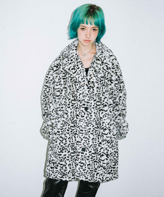 #1 LEOPARD FUR COAT, OUTERWEAR, X-Girl