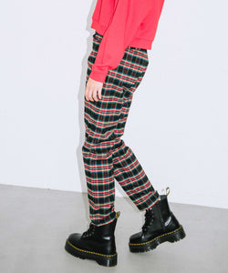 PLAID TAPERED PANTS, PANTS, X-Girl