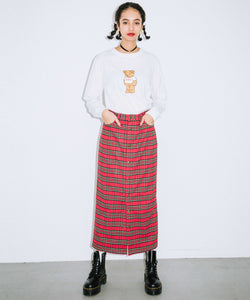 PLAID BUTTON-FRONT SKIRT, SKIRTS, X-Girl