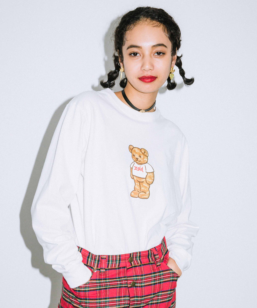 X-girl BEAR L/S REGULAR TEE
