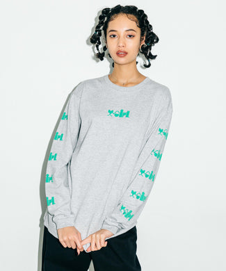 CANDY LOGO L/S TEE, T-SHIRTS, X-Girl
