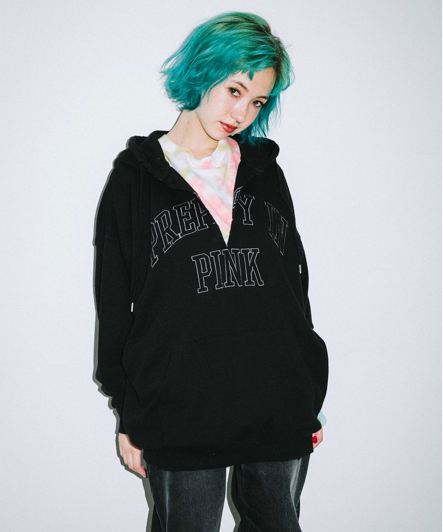 CUT OFF PULLOVER SWEAT HOODIE, HOODIES & SWEATERS, X-Girl