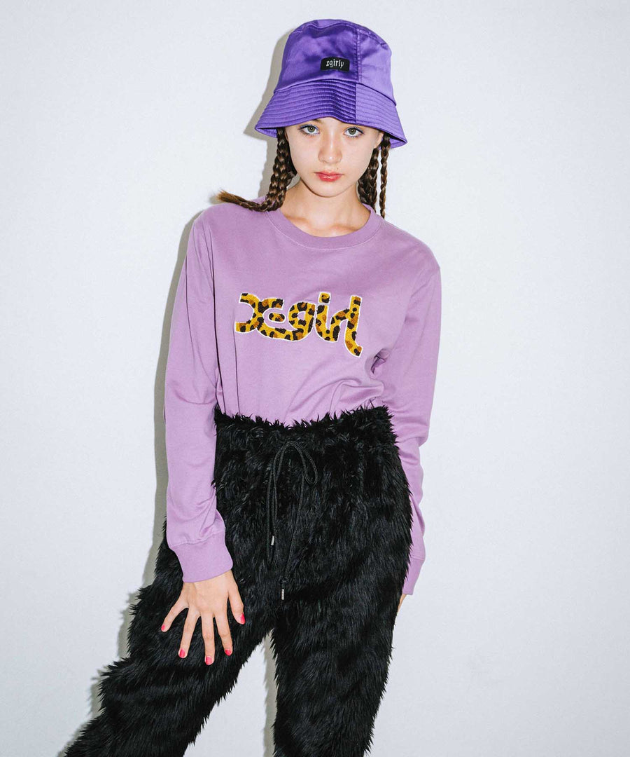 LEOPARD LOGO L/S REGULAR TEE, T-SHIRTS, X-Girl