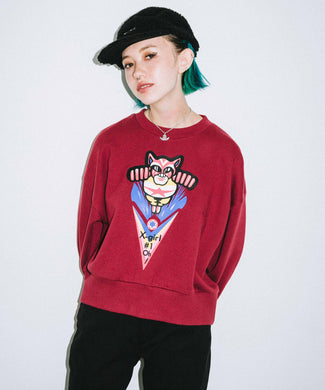 #1 CAT MAN CREW SWEAT TOP