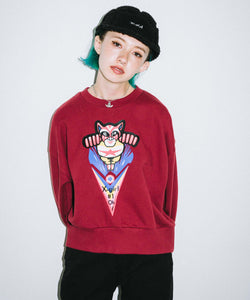 #1 CAT MAN CREW SWEAT TOP, HOODIES & SWEATERS, X-Girl