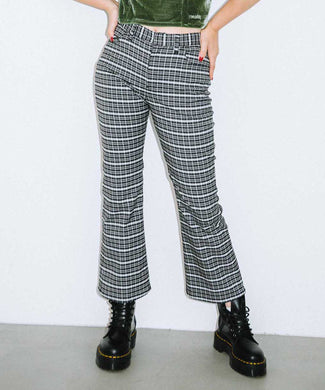 CLASSIC COLOR PLAID FLARE PANTS, PANTS, X-Girl