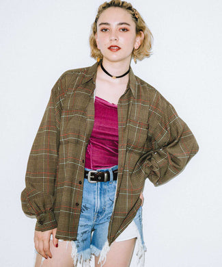 SHEER PLAID SHIRT, SHIRT, X-Girl