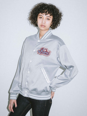 SATIN VARSITY JACKET, JACKET, X-Girl