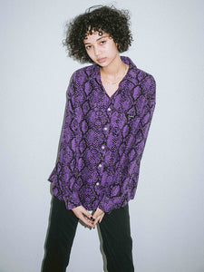 SNAKE PATTERN SHIRT, SHIRTS, X-Girl