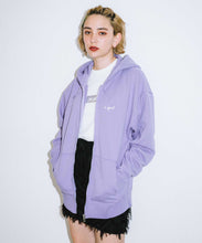 Load image into Gallery viewer, CURSIVE LOGO ZIP UP SWEAT HOODIE, OUTERWEAR, X-Girl