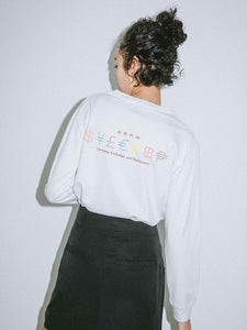 CURRENCY L/S REGULAR TEE - X-girl