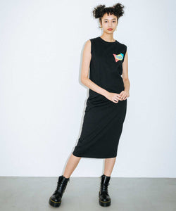 PLANE SHAPES LOGO TANK DRESS, DRESS, X-Girl
