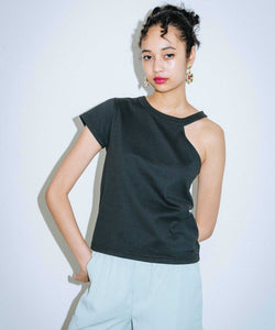 ONE-SHOULDER S/S TEE, TOPS, X-Girl