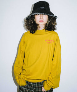 ALTERNATIVE LOGO HIGH NECK L/S TEE, T-SHIRT, X-Girl