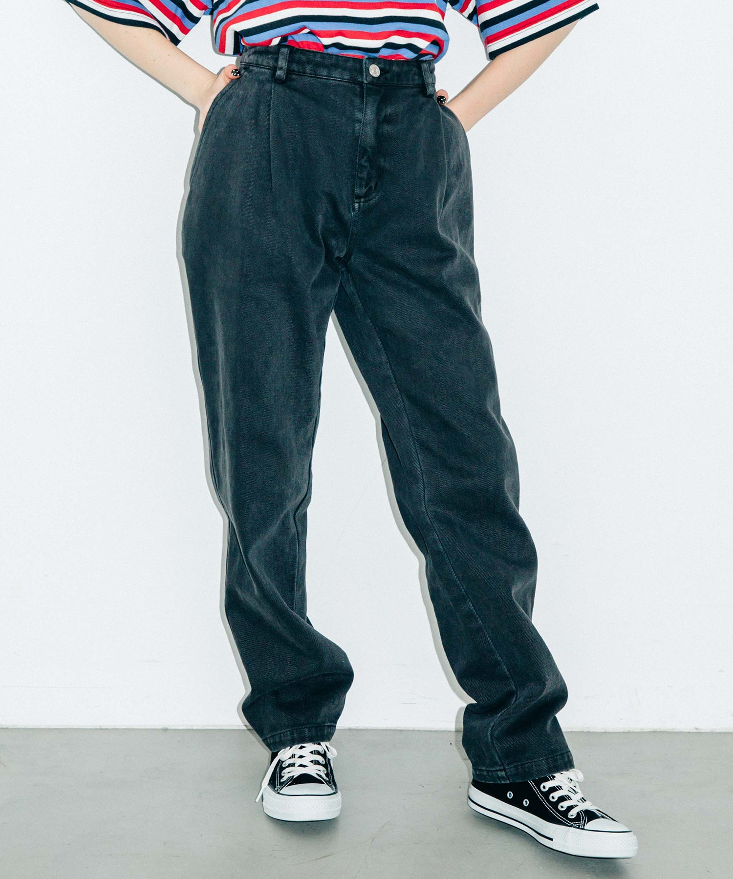 OVERDYED TWILL PANTS, PANTS, X-Girl