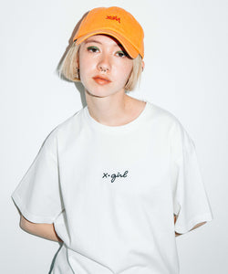 EMBROIDERED CURSIVE LOGO S/S TEE, T-SHIRT, X-Girl