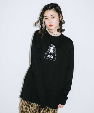 FACE L/S TEE, T-SHIRT, X-girl
