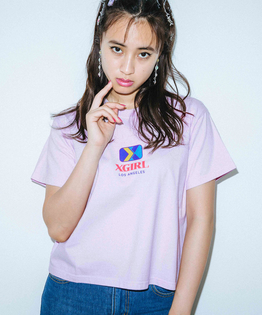 EMBLEM CROPPED S/S TEE, T-SHIRT, X-Girl