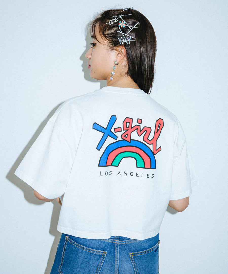 RAINBOW CROPPED S/S MENS TEE
