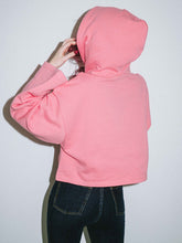 Load image into Gallery viewer, LOGO JACQUARD RIB CROPPED SWEAT HOODIE, HOODIES & SWEATERS, X-Girl