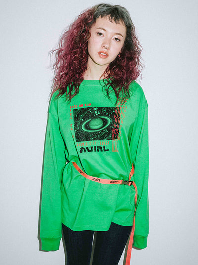 SATURN L/S BIG TEE, T-SHIRTS, X-Girl