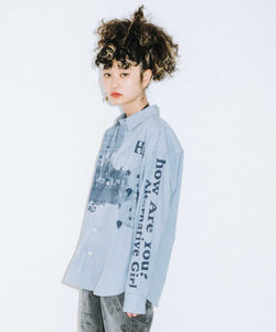 STRIPED L/S SHIRT, SHIRT, X-Girl