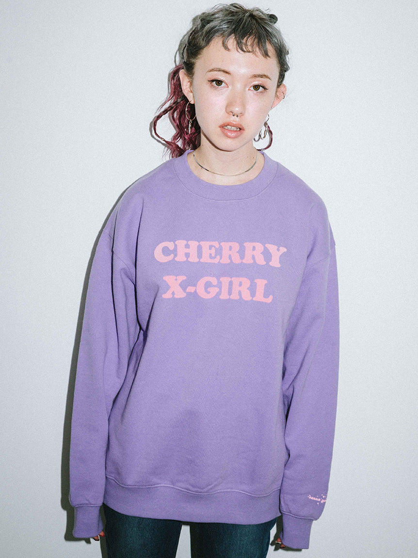 X-girl x Vanna Youngstein CREW SWEAT TOP, SWEAT, X-girl