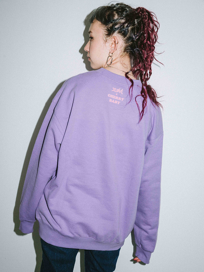 X-girl x Vanna Youngstein CREW SWEAT TOP