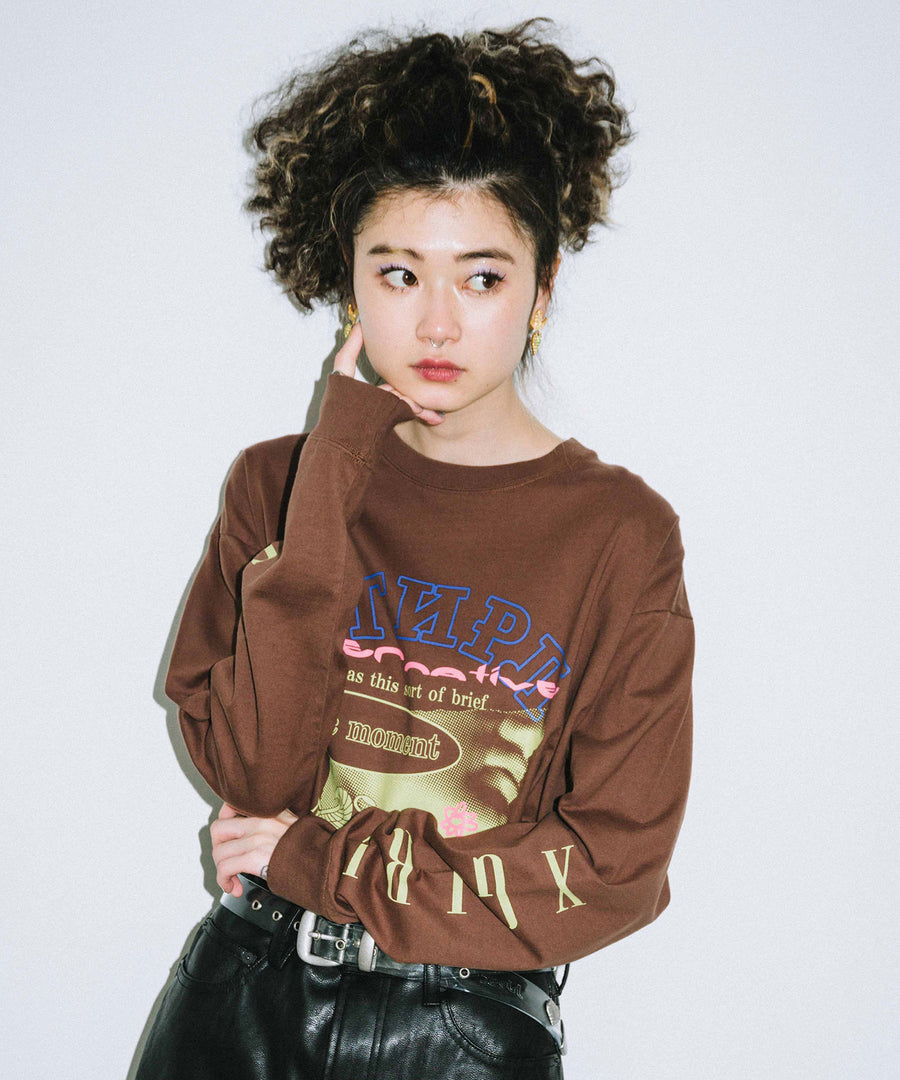EXOTIC MOOD L/S BIG TEE, T-SHIRT, X-Girl