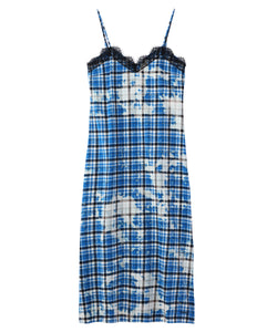 BLEACHED PLAID CAMI DRESS, DRESS, X-Girl