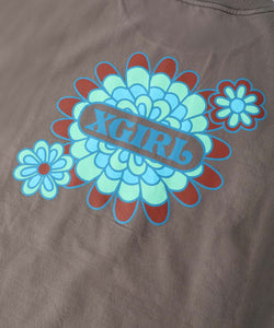 PEACOCK FLOWER S/S MENS TEE, T-SHIRT, X-Girl