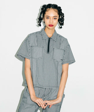 GINGHAM PLAID SHIRT, SHIRT, X-Girl